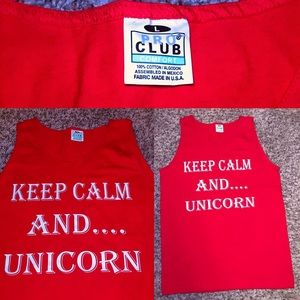 Keep Calm & Unicorn 🦄 Muscle Tank Top!